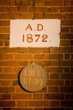 Nome 1872 da cidade Fotos de Stock