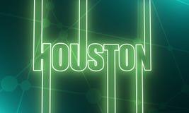 Nome da cidade de Houston ilustração do vetor