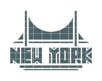 Nome de New York City Conceito criativo do cartaz da tipografia ilustração do vetor