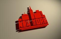 Nome de New York City Conceito criativo do cartaz da tipografia Fotografia de Stock Royalty Free
