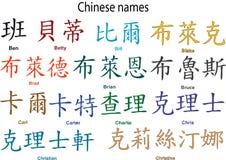 Nome del cinese Fotografia Stock Libera da Diritti
