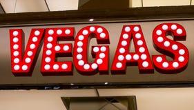 Nome della città Las Vegas fotografie stock libere da diritti