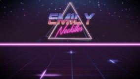 nome Emily nello stile dello synthwave illustrazione vettoriale