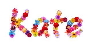 Nome Kate dei fiori Fotografia Stock Libera da Diritti