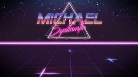 nome Michael no estilo do synthwave ilustração royalty free