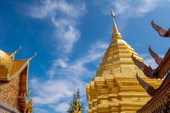Nome Wat Phra That Doi Suthep del tempio buddista fotografie stock libere da diritti