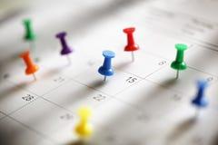 Nomeação do calendário Imagem de Stock Royalty Free