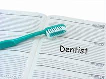 Nomeação do dentista no diário Foto de Stock Royalty Free