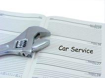 Nomeação do serviço do carro no diário Imagem de Stock