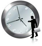 Nomeação no relógio dos relógios da pessoa do negócio do tempo Foto de Stock Royalty Free