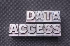 Nomenclature d'accès aux données image stock