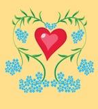 Nomeolvides del corazón Foto de archivo
