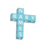 Nomes do bebê Foto de Stock