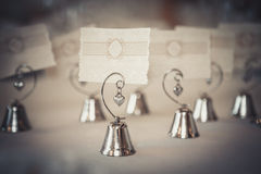 Nomes do convidado do cartão vazio por exemplo no restaurante Imagem de Stock