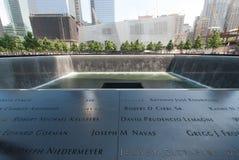 Nomi commemorativi della plaza della cascata Fotografia Stock Libera da Diritti