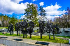 Nomi complessi commemorativi del villaggio di Khatyn fotografie stock libere da diritti