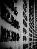 Nomi del memoriale di guerra fotografia stock libera da diritti