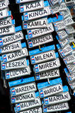 Nomi polacchi Fotografie Stock