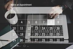 Nominacyjny agenda kalendarza spotkania planu pojęcie Fotografia Stock