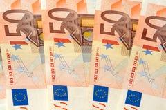 nominal евро 50 кредиток Стоковая Фотография