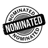 Nominated rubber stamp Stock Images