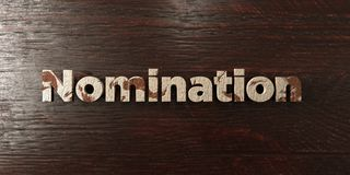 Nomination - grungy wooden headline on Maple  - 3D rendered royalty free stock image Stock Photos