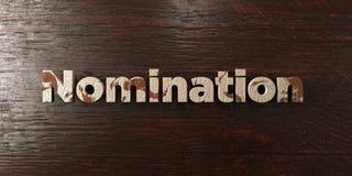 Nomination - titre en bois sale sur l'érable - image courante gratuite de redevance rendue par 3D illustration libre de droits