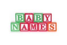 Noms de bébé photo stock