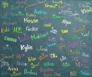 Noms et dessins d'enfants image libre de droits
