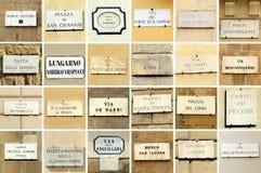 noms florentins de rue photographie stock libre de droits