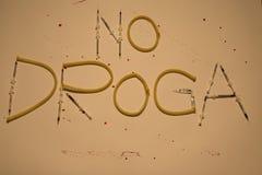 Non écrit aucune drogue Photo libre de droits