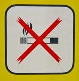 non курить знака Стоковое фото RF