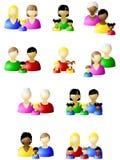 non установленная икона семей традиционной Стоковая Фотография RF