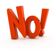 Non ! Image stock