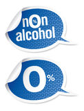 Non-alcohol drinks stickers Royalty Free Stock Photo