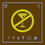 Non alcohol vector icon. Illustration on a flat design style. EPS 10 royalty free illustration