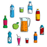 Non alcoholic beverage and drinks Royalty Free Stock Photos