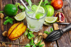 Non-alcoholic Mojito cocktail Royalty Free Stock Images