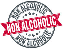 Non alcoholic round grunge stamp Royalty Free Stock Photography