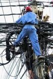 Non allenti il filo! Fotografia Stock