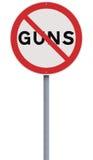 Non aux armes à feu Images stock