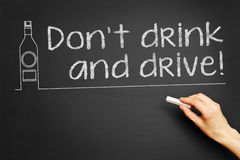 Non beva e non guidi! Fotografia Stock