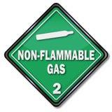 Non brännbar gas stock illustrationer