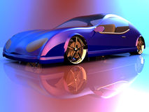 Non-branded generic concept car Royalty Free Stock Photos