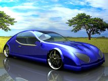 Non-branded generic concept car and bike Royalty Free Stock Photography