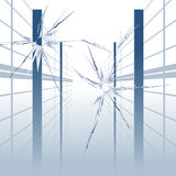 Non_bullet_proof_glass Royalty Free Stock Image
