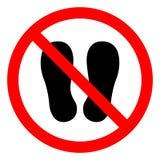 Non cammini o non stia qui il segno di simbolo, illustrazione di vettore, isolata sull'icona bianca del fondo EPS10 illustrazione di stock