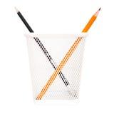 Non come voi (due matite nella casella metallica) Fotografia Stock