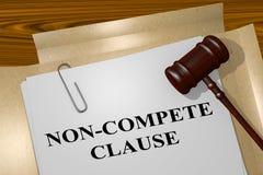 Non-Compete Clause concept Stock Photo