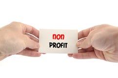 Non concetto del testo di profitto Immagine Stock